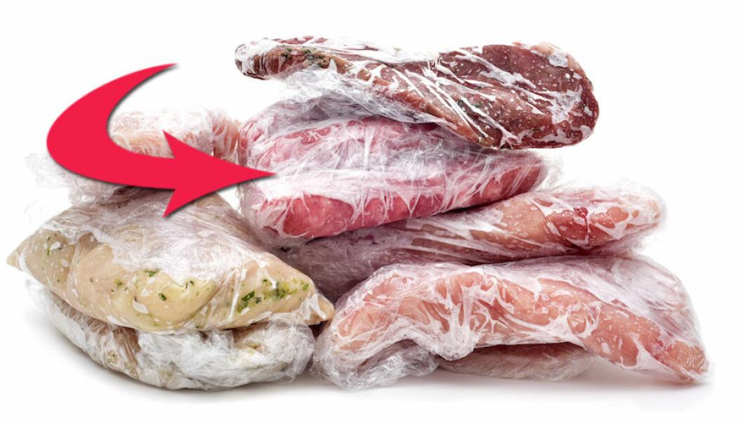 fryst köttfärs hållbarhet