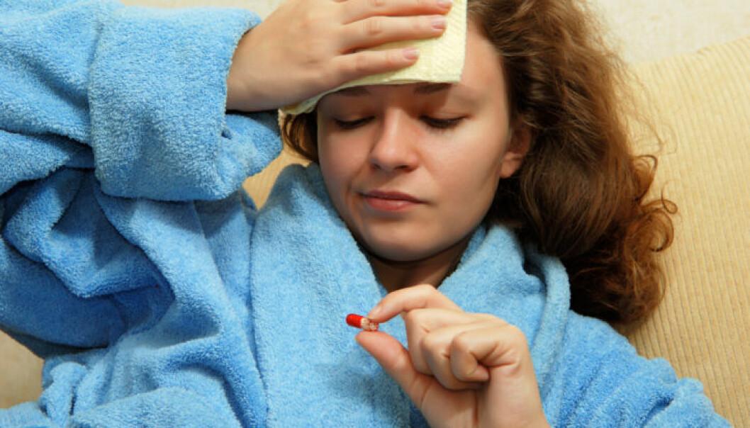 förkylning med huvudvärk