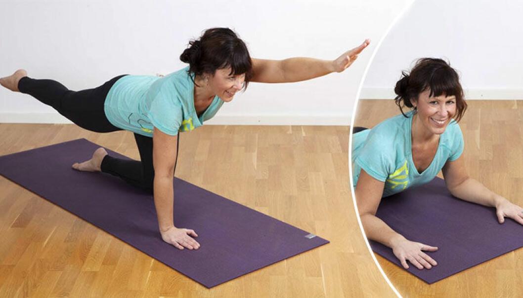 övningar vid ryggont