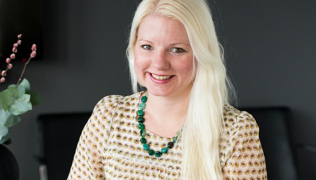 Porträtt av författaren och journalisten Malin Perlheden