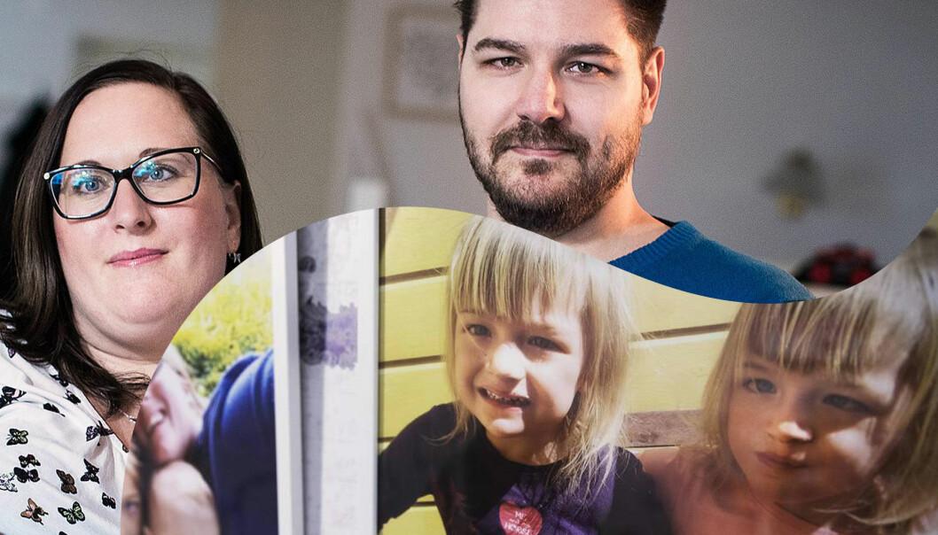 Tvillingarna som dog i dravets syndrom och deras föräldrar