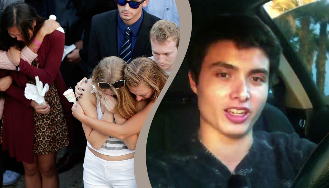 Kollage av gråtande kvinnor och Alek Manissian.