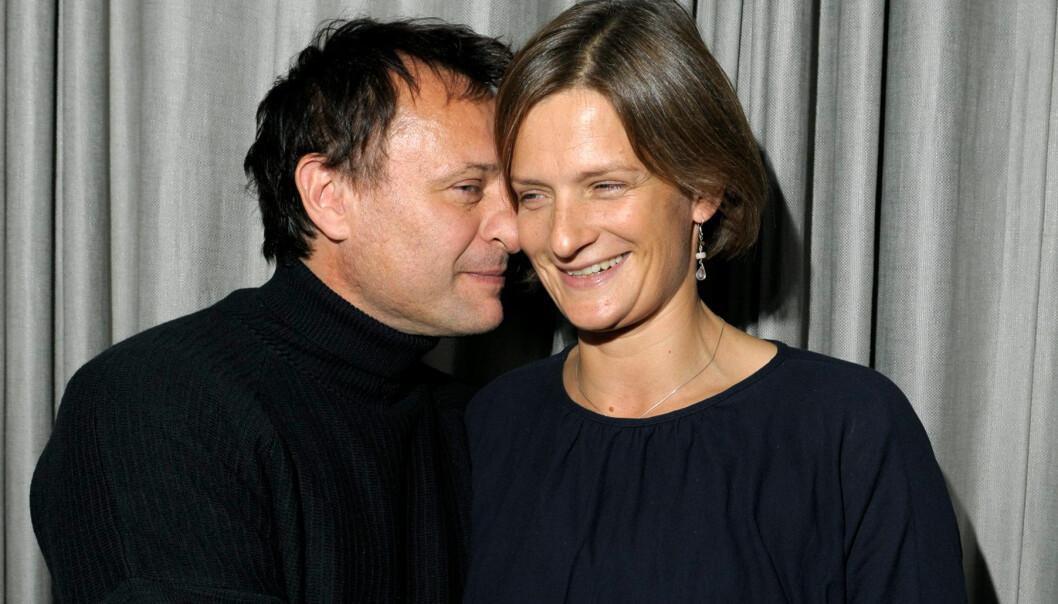 Michael Nyqvist med hustrun Catharina