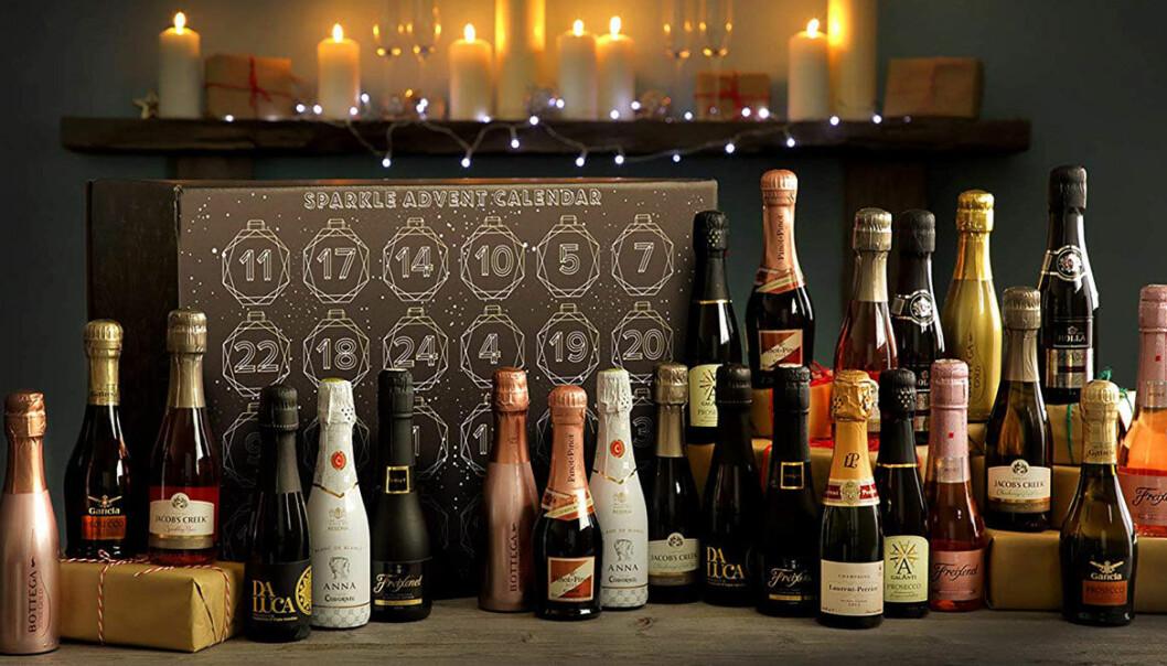 Alla flaskor som ryms i dubbeladventskalendern från First 4 hampers