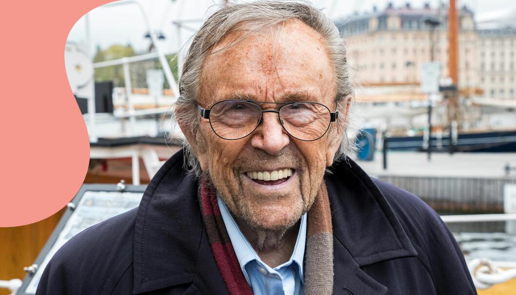 Porträtt av programledaren Arne Weise, som dog 89 år gammal
