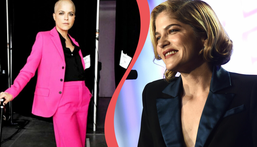Kollage av Selma Blair – sjuk i MS