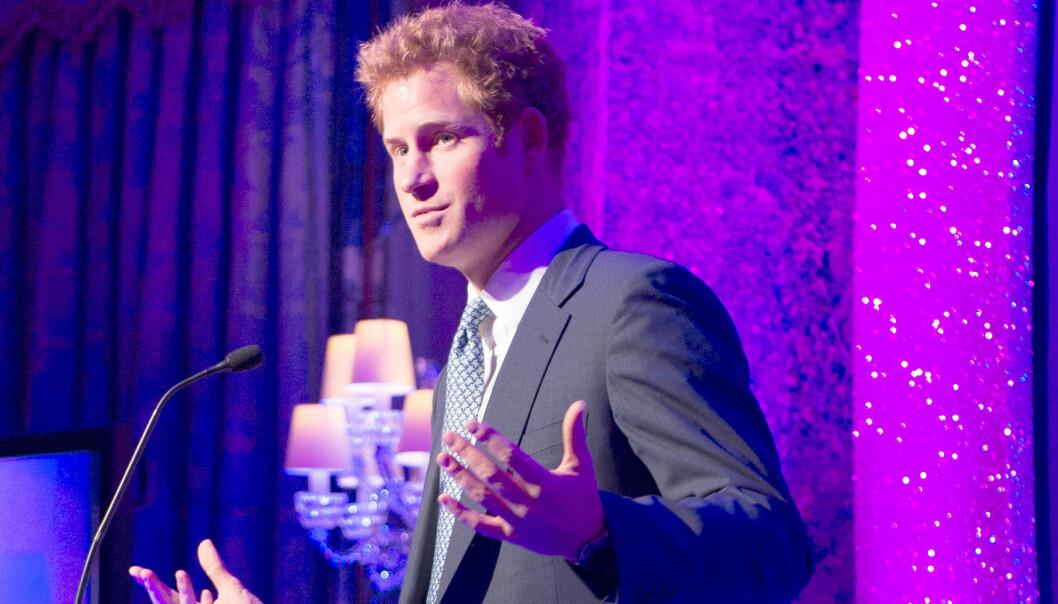 Prins Harry talar på Child Well