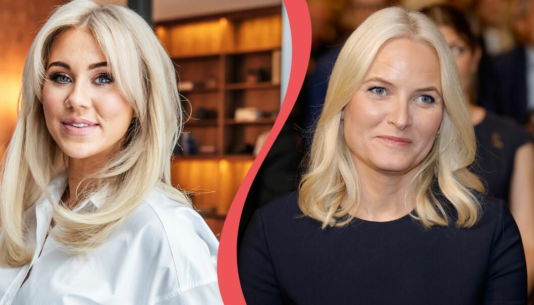 Prinsessan Mette-Marit och bloggaren Isabella Löwengrip