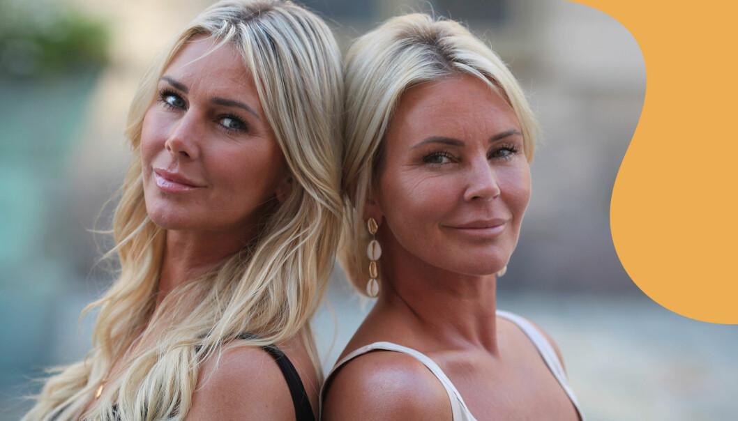 Hannah och Magdalena Graaf står med ryggarna mot varandra och ler