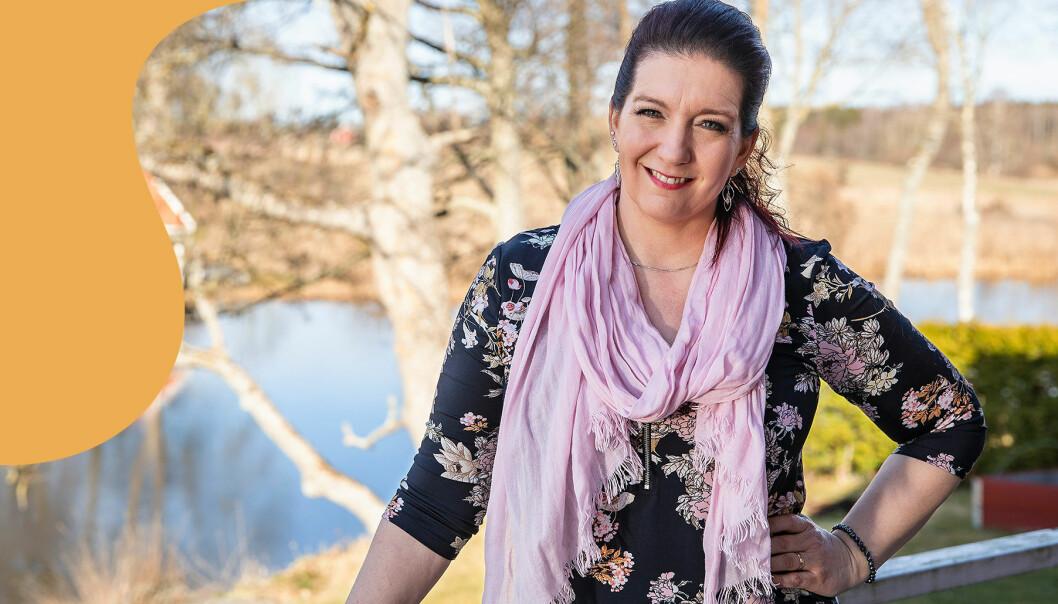 Porträtt av Eva-Lotta Ryd, som la om sin kost och blev fri från värken