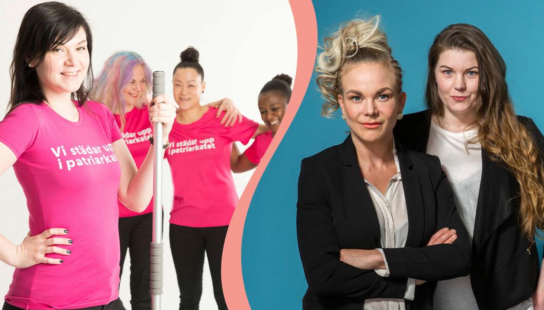 Sofia Jensfelt och Linda Sletvold Amiri driver städföretaget 50-femme i Göteborg.