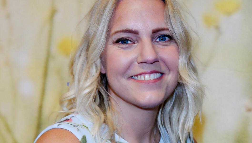 Carina Bergfeldt under presentationen av sommarpratare i P1 2018.