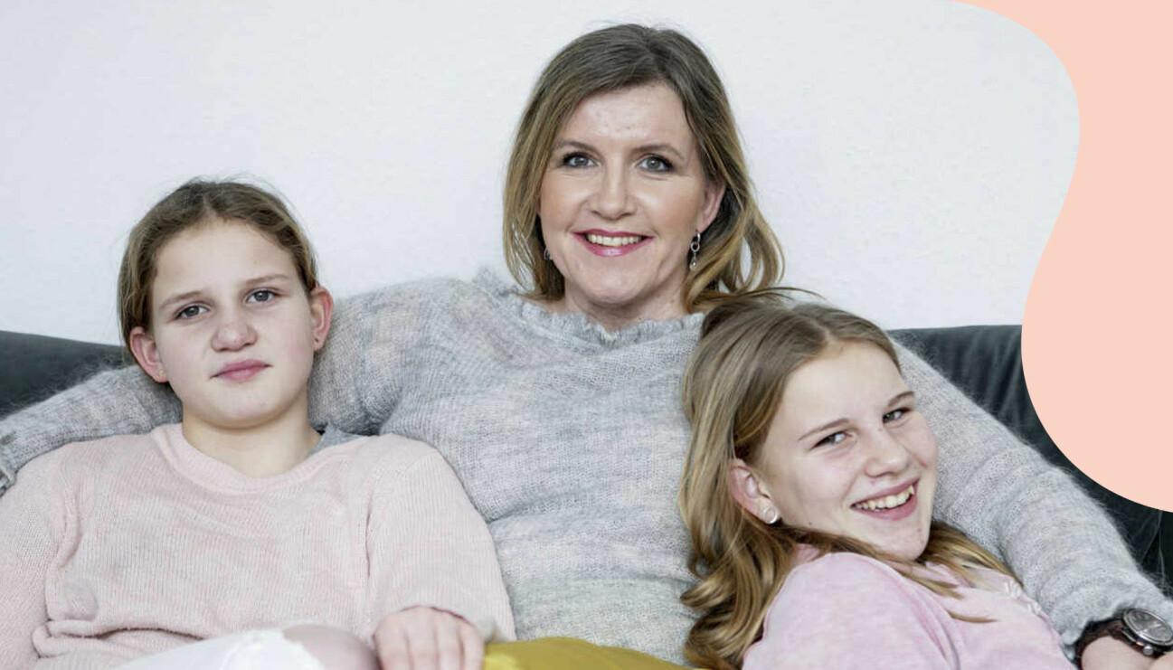 Susanne med döttrarna