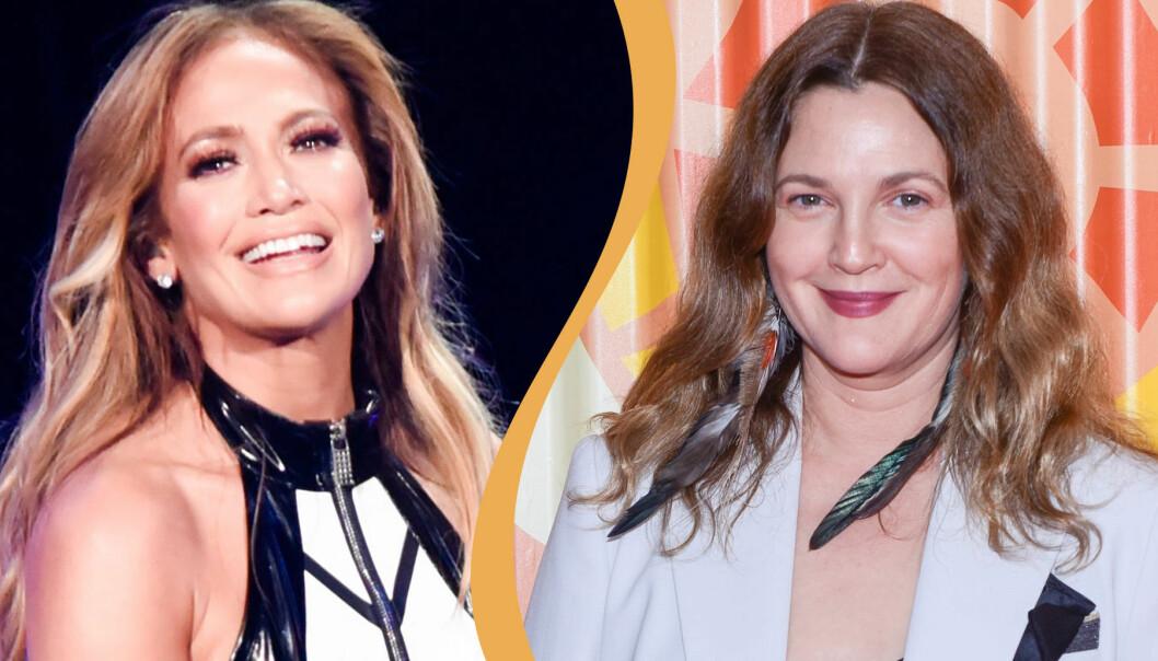 Kollade av Jennifer Lopez och Drew Barrymore
