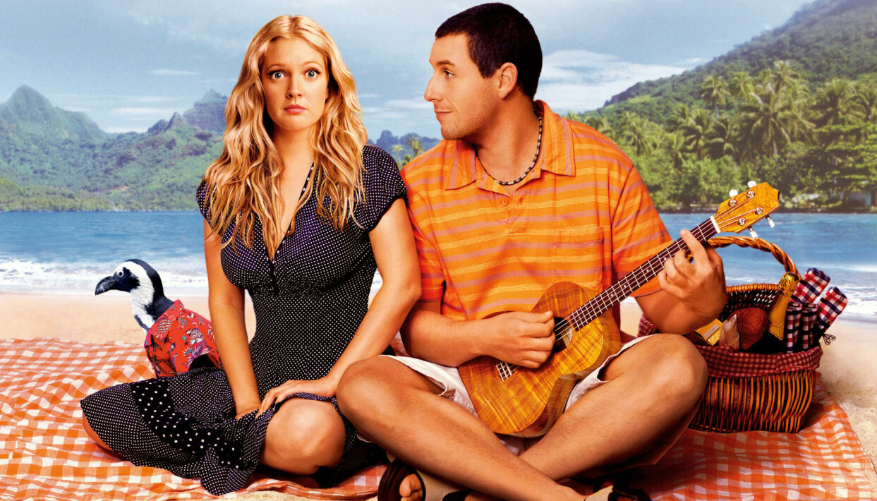 Drew Barrymore och Adam Sandler i filmen 50 first dates.