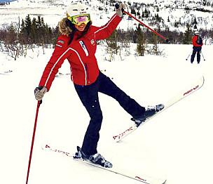 Åsa Brännström åker skidor.