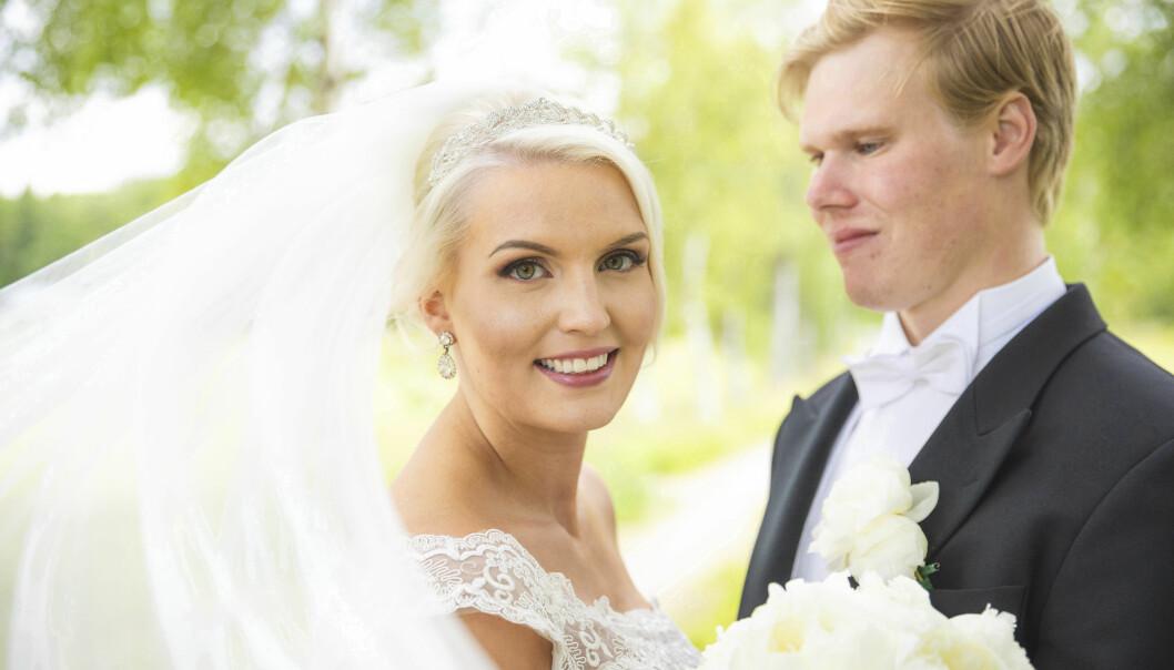Åsa och Marcus bröllopsfoto.