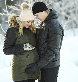 Porträtt av Åsa och Marcus som gravida.