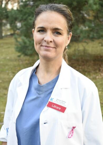 Jessica Gahm är biträdande överläkare vid Karolinska universitetssjukhuset i Stockholm.