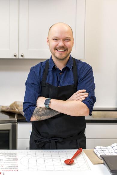 Fredrik Nylén, som driver bakbloggen Fredriks fika.