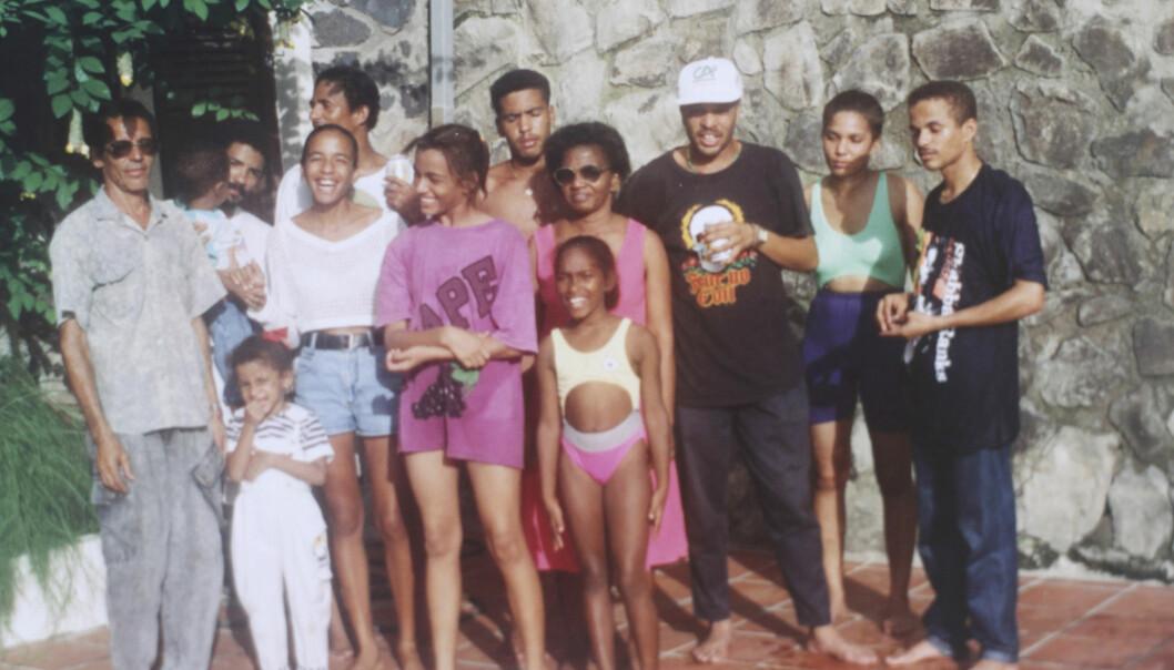Cathys stora familj på ön St. Lucia.