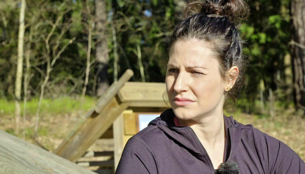 Nour El Refai berättar hur träning lindrar hennes ångest i tv-programmet Landet Lyckopiller.