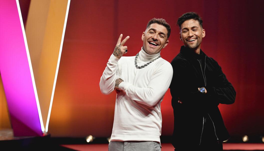 Mendez och Alvaro Estrella är två av artisterna i Melodifestivalen 2020.