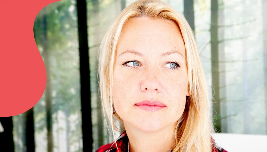 Porträtt av Johanna som berättar om sin sociala fobi.