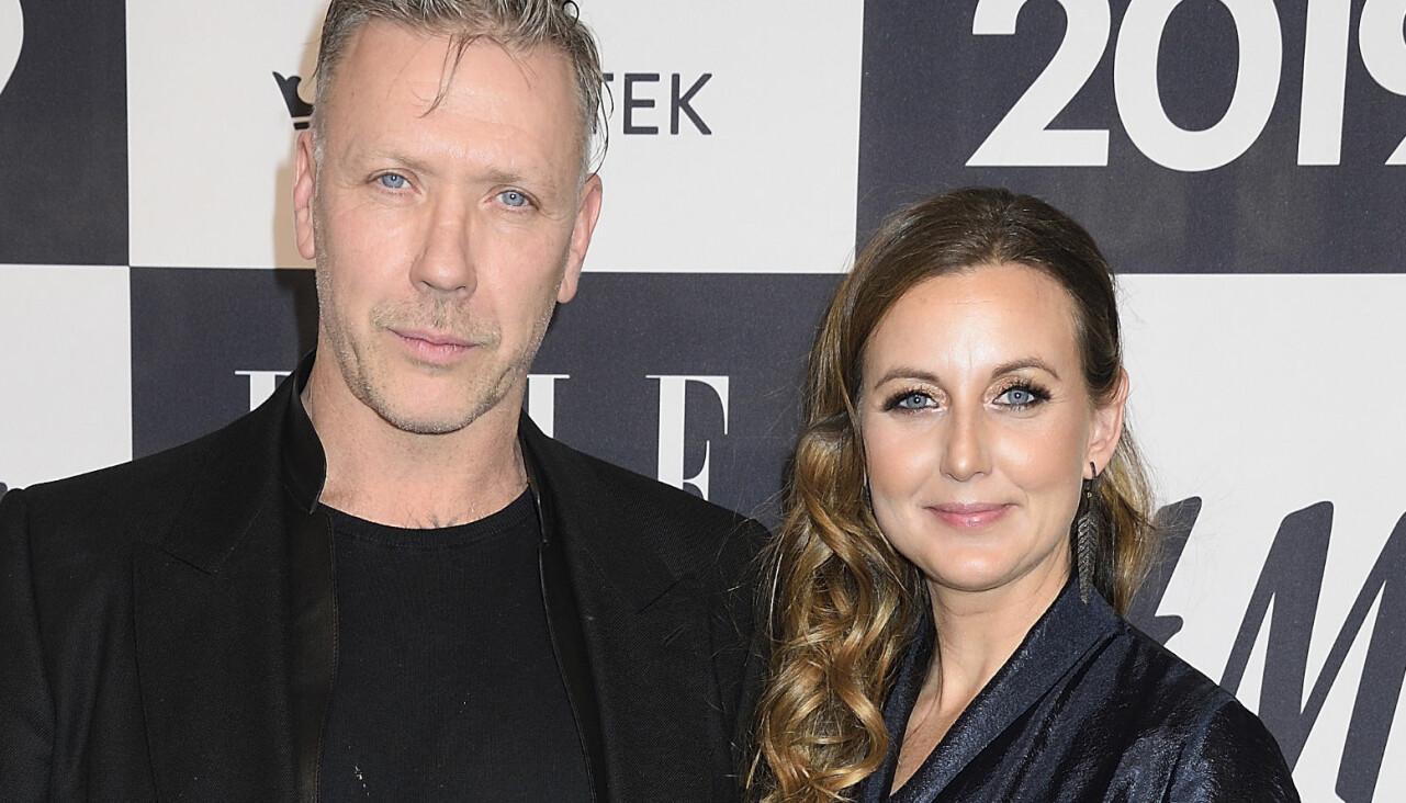 Sanna Lundell och Mikael Persbrandt på röda mattan på Elle-galan 2019.