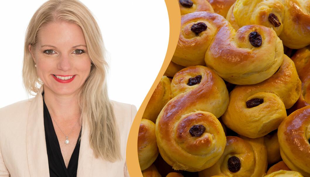 Malin Perlheden tipsar om recept.se där hon har hittat sitt favoritrecept på lussekatter.