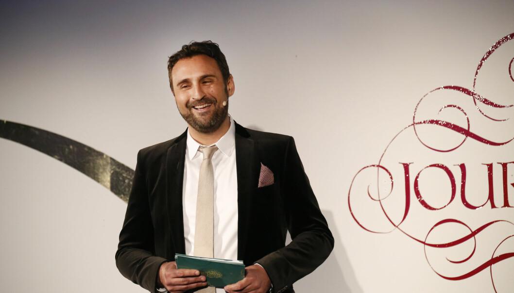 Johar Bendjelloul under utdelningen av Stora journalistpriset.