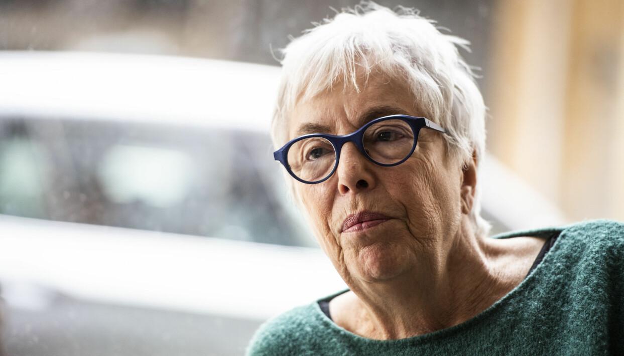 Porträtt av Yvonne Hirdman, professor emerita i historia.