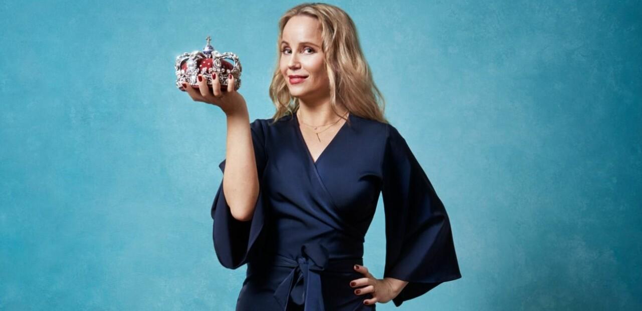 Sofia Helin är aktuell i Drottningarna på tv4 hösten 2020.