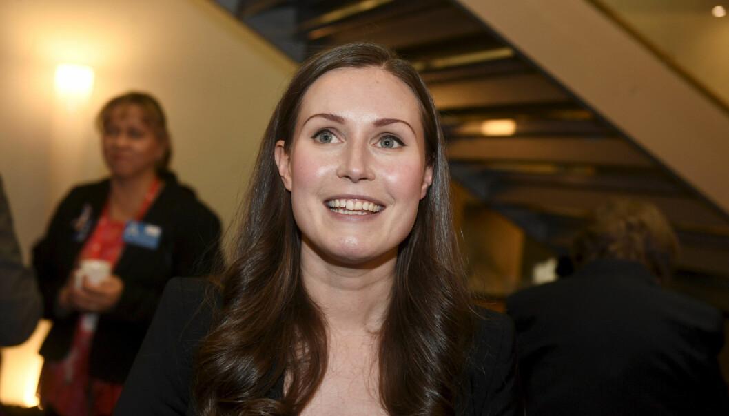 Porträtt av Sanna Marin som precis har blivit Finlands statsminster och den yngsta statsministern i världen.