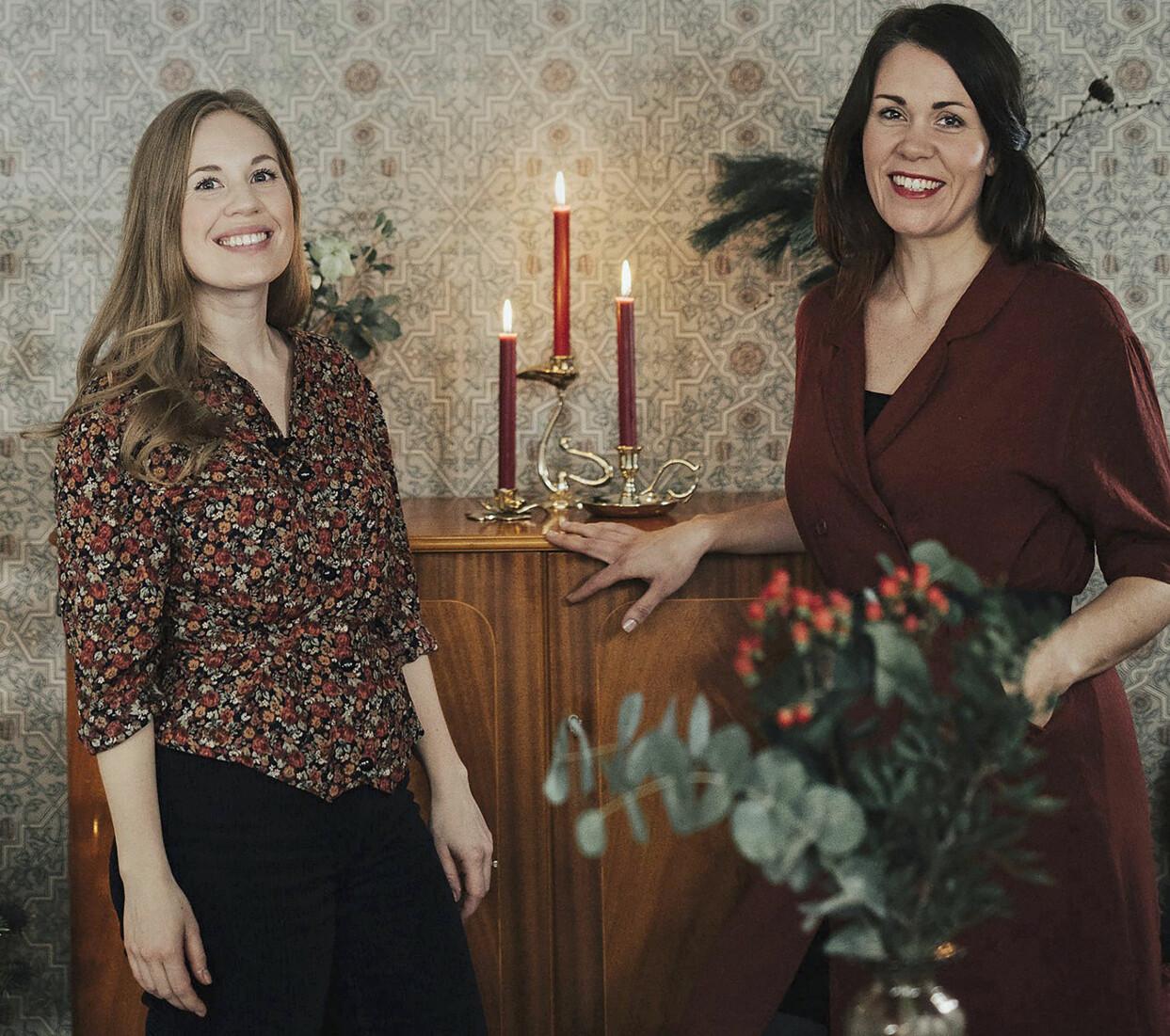 Linda Hansson och Louise Lemming porträtterade framför en