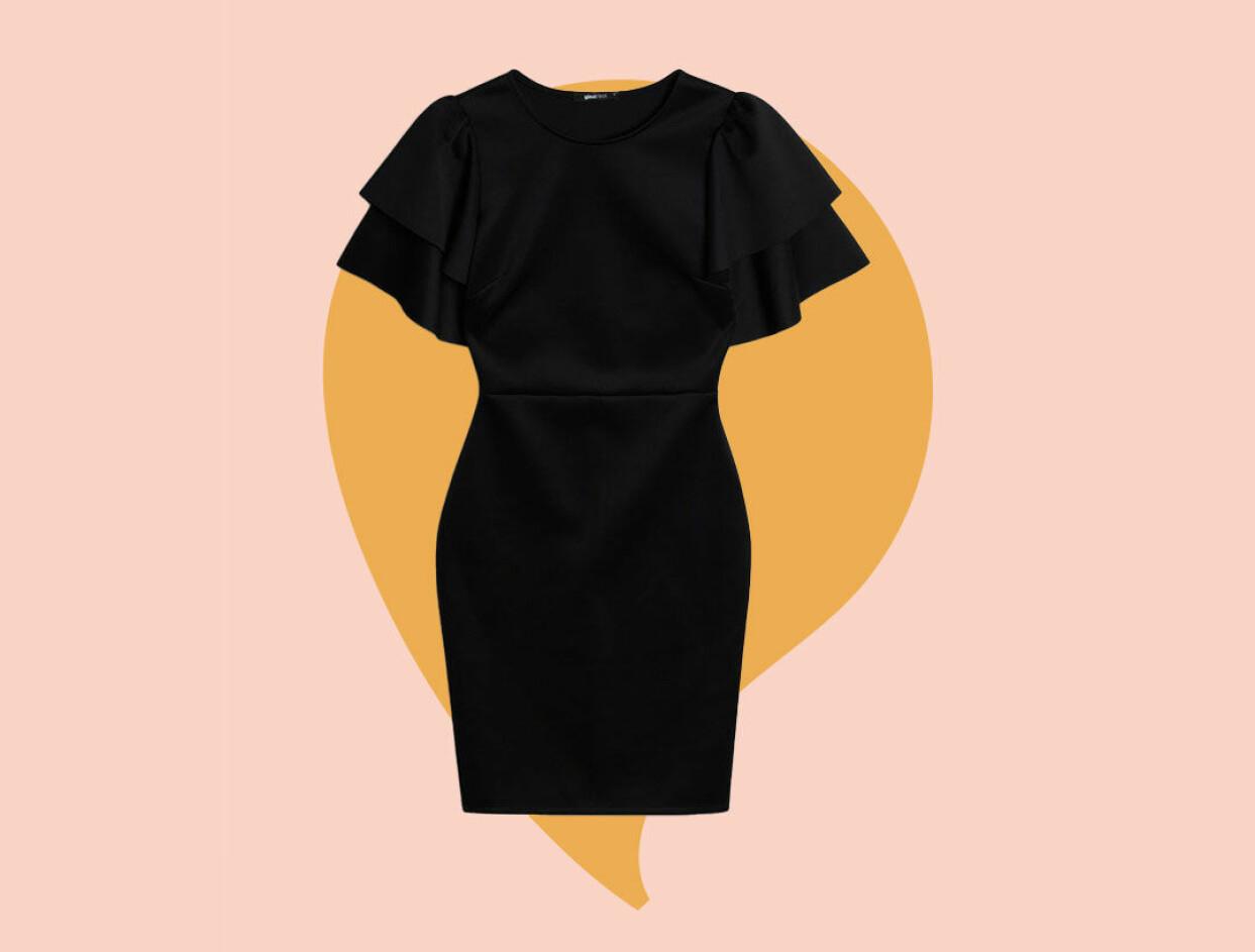 Svart klänning till nyår från Gina tricot.