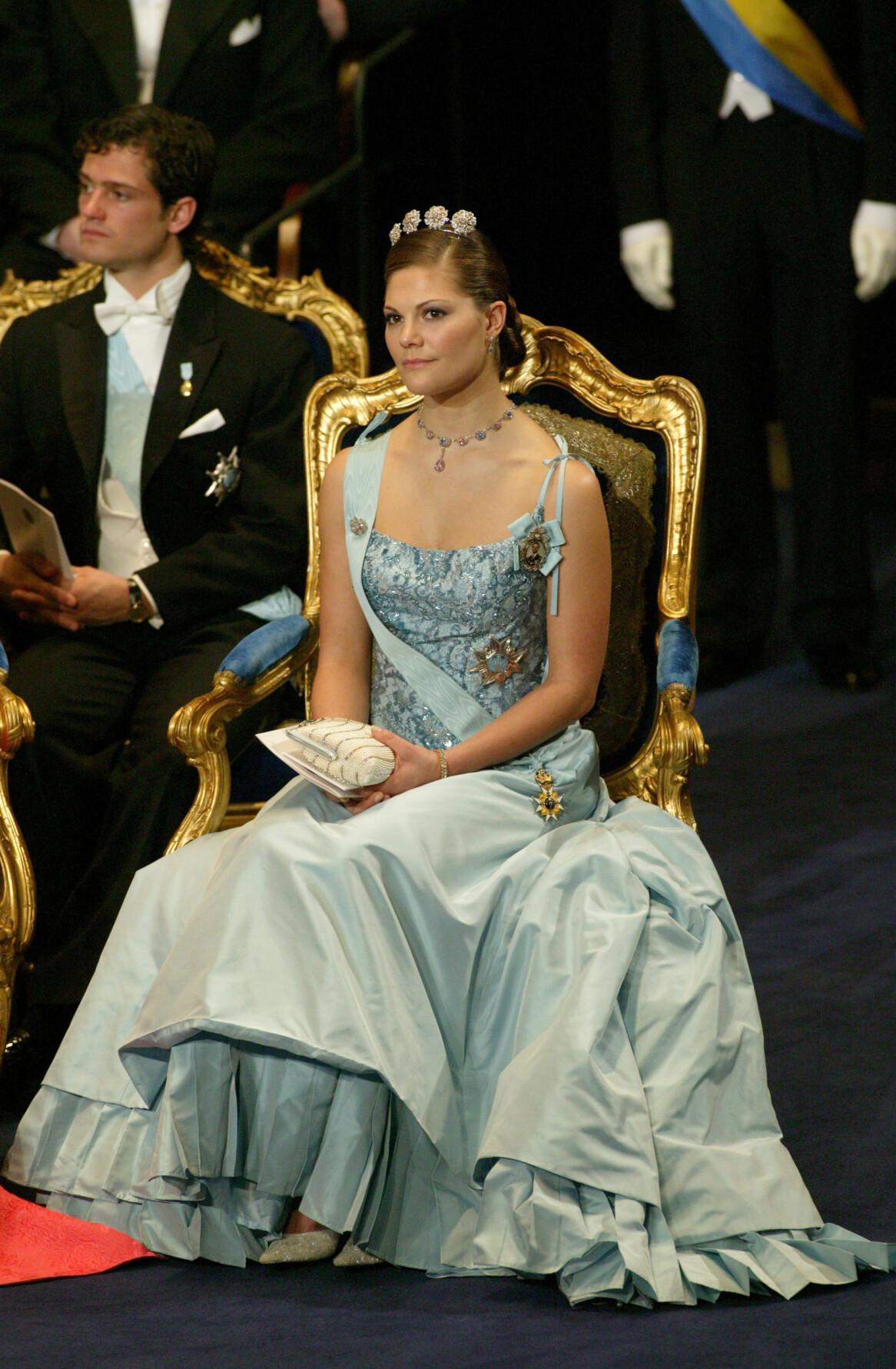 Kronprinsessan Victoria under Nobelprisets utdelning i Stockholm 2003.