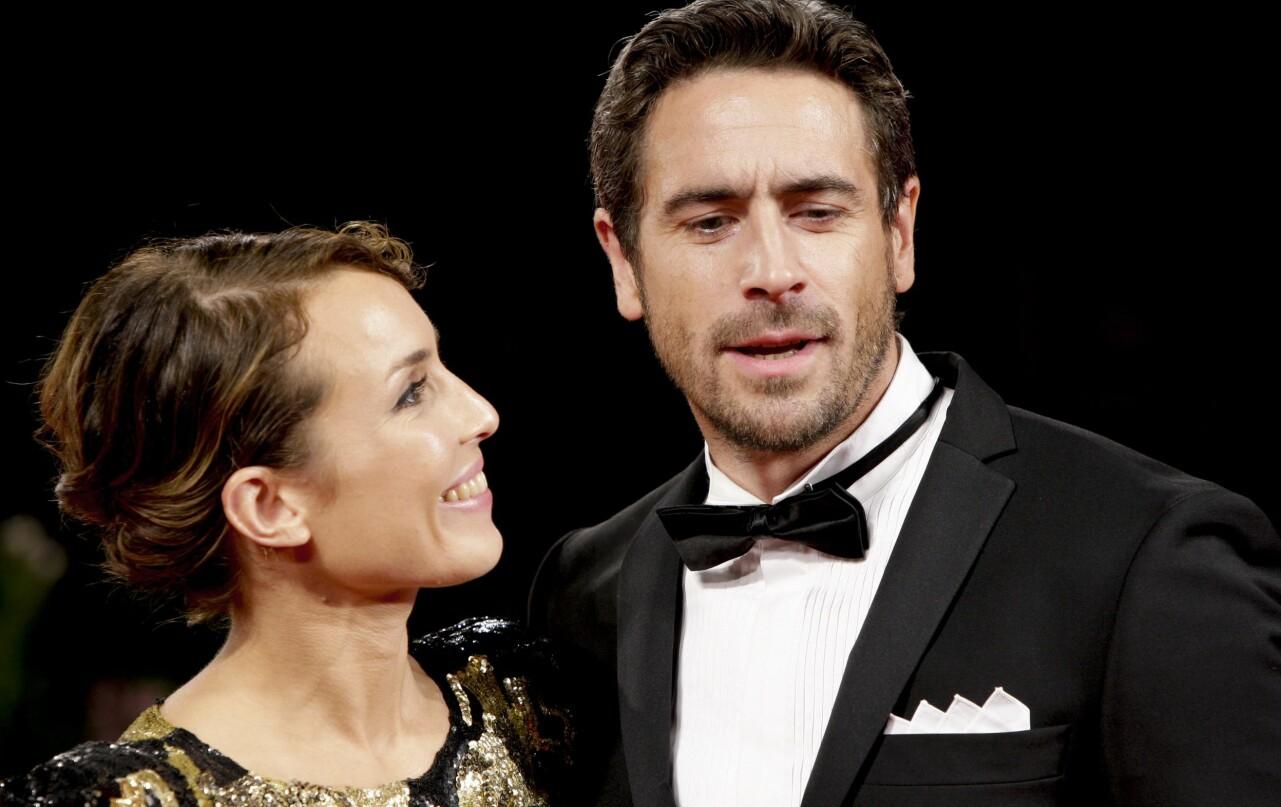 Noomi och Ola Rapace på filmfestival i Venedig.