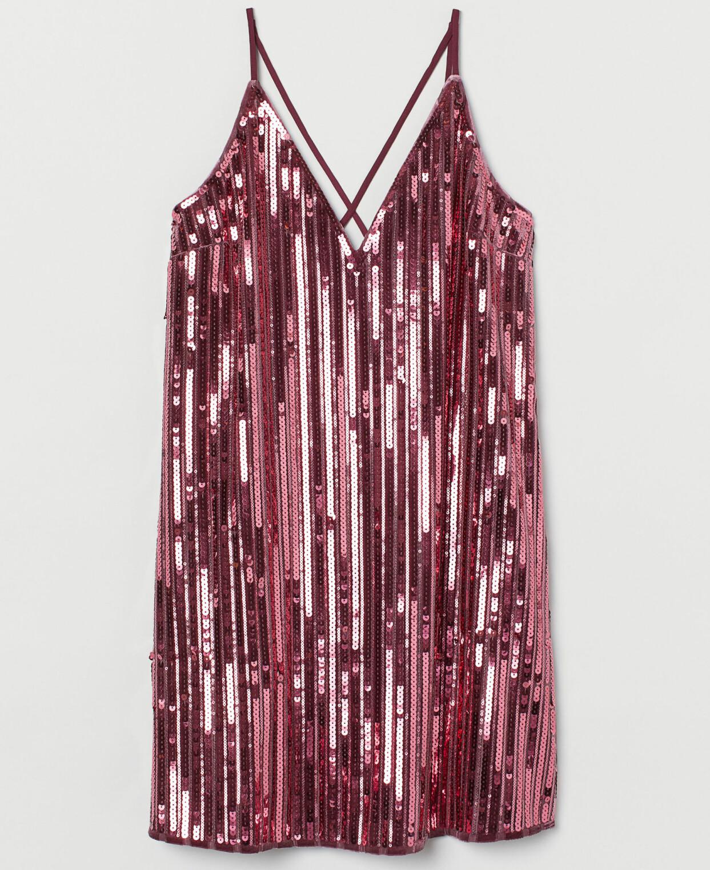 20-talsinspirerad klänning med paljetter, från H&M