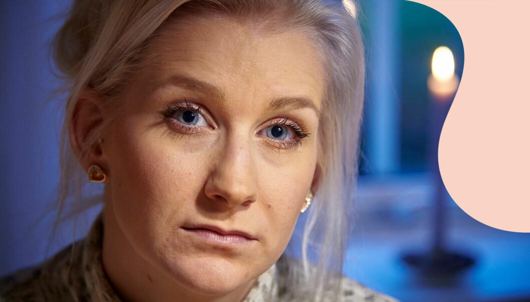 Porträtt av Ebba Lundström som berättar om sorgen efter sin pappa som dog i en källarbrand.