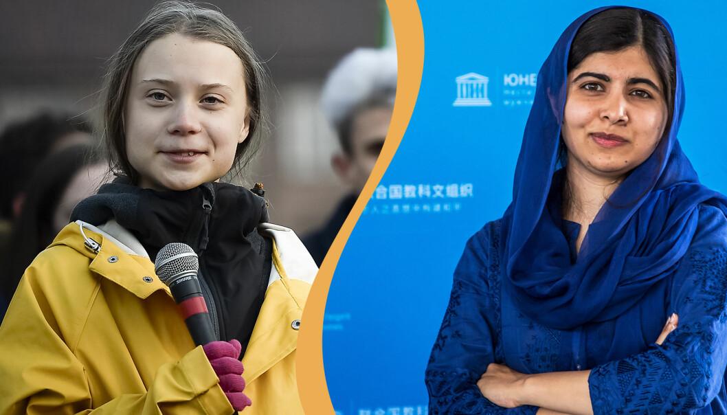 Greta Thunberg och Malala Yousafzai.