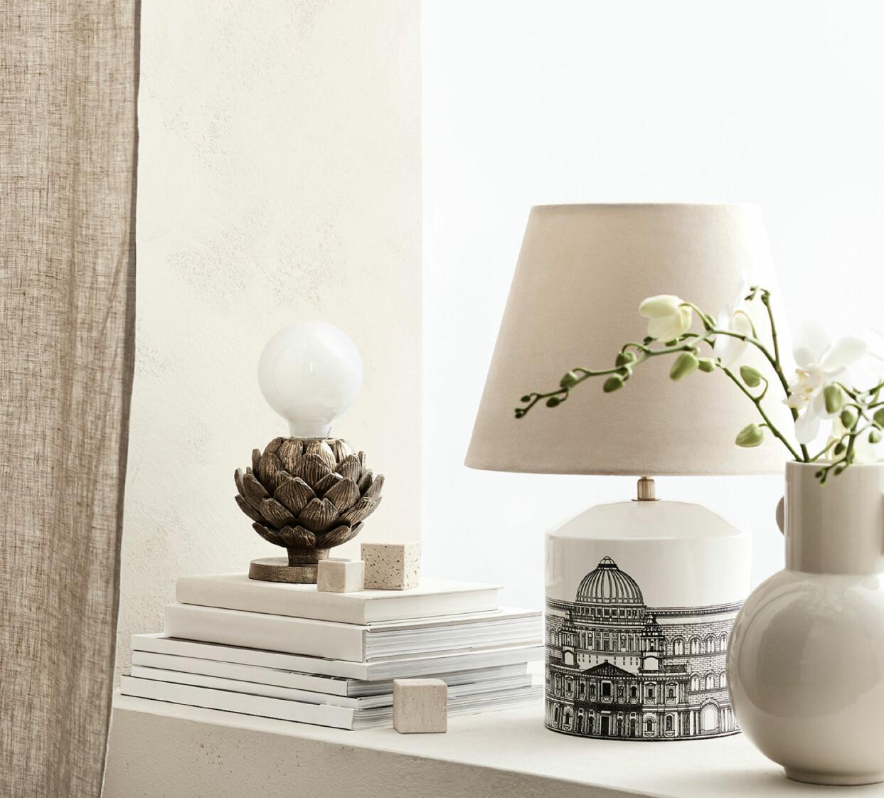 Lampfot med tryckt motiv, från H&M Home