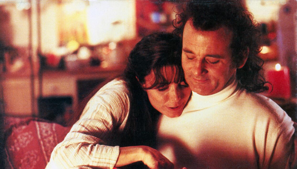 Karen Allen och Bill Murray i Scrooged från 1988.