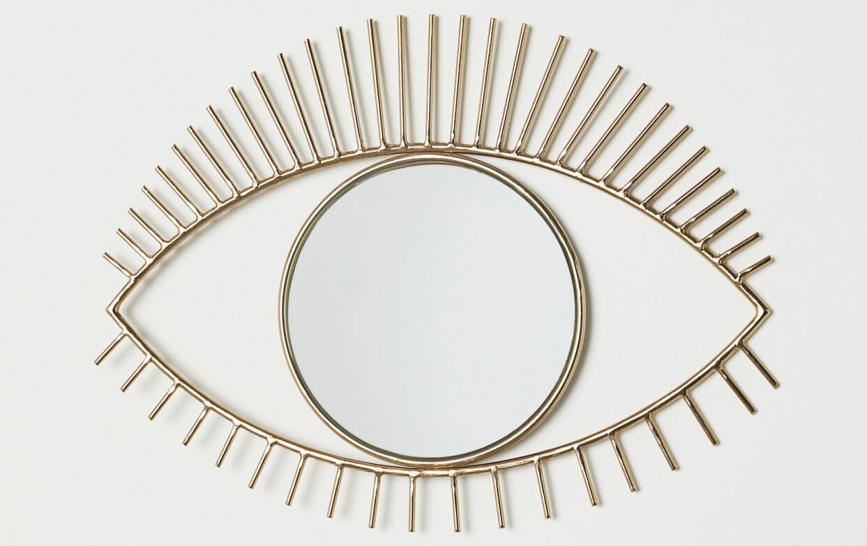 Spegel i form av ett stort öga, från H&M Home