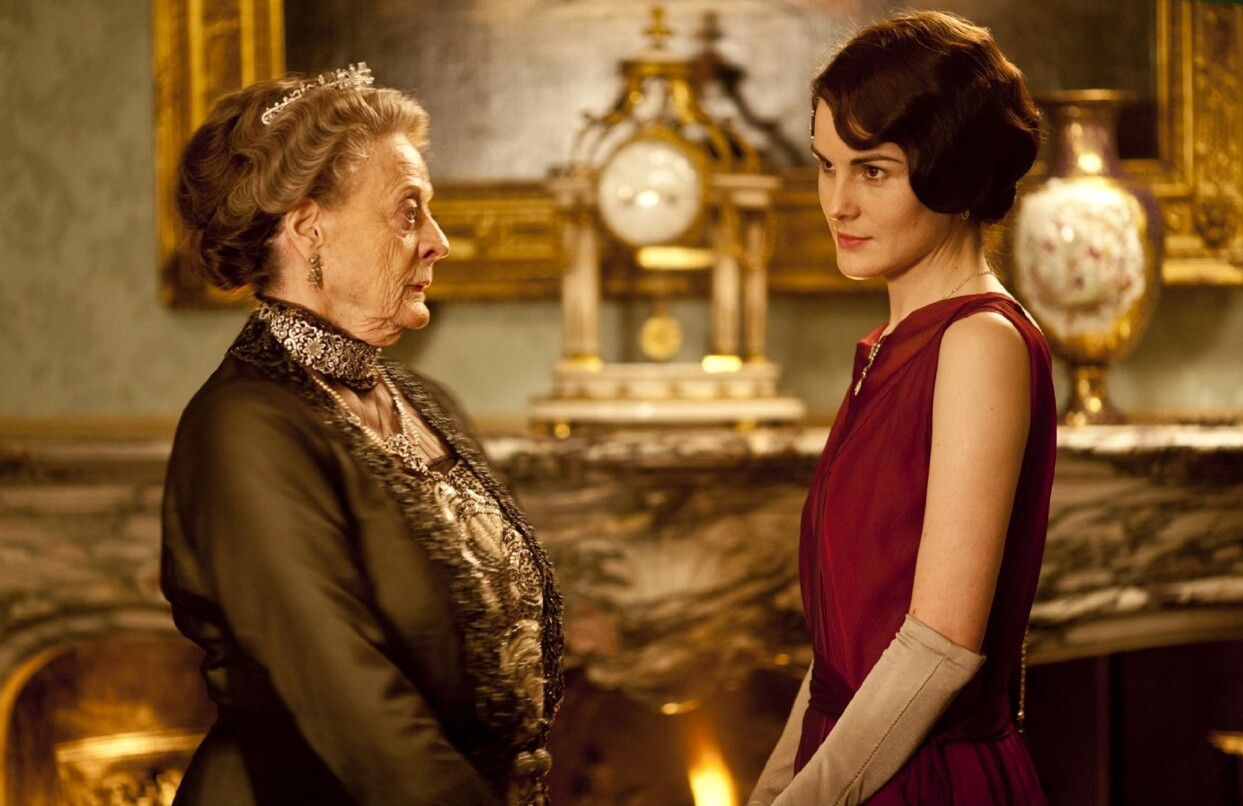 Scen ur TV-favoriten Downton Abbey.