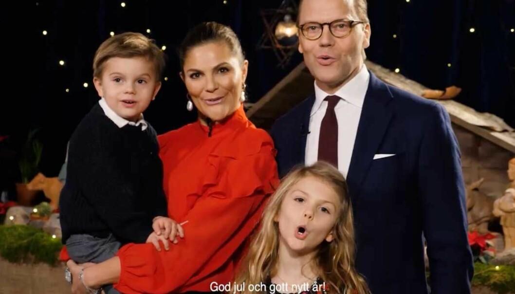 Bild från kronprinsessfamiljens julhälsning 2019.