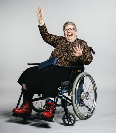 Linda Hammar inför premiären av Välkommen till Köping som sänds i Kanal 5 våren 2020.