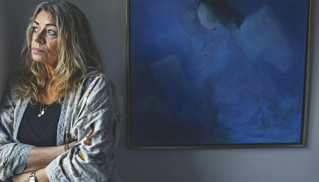 Porträtt av Anna Kløvedal som förlorade sin dotter, som dog i leukemi. Foto: Camilla Stephan