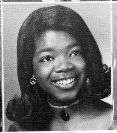En ung Oprah Winfrey, ur årsboken i high school 1971.