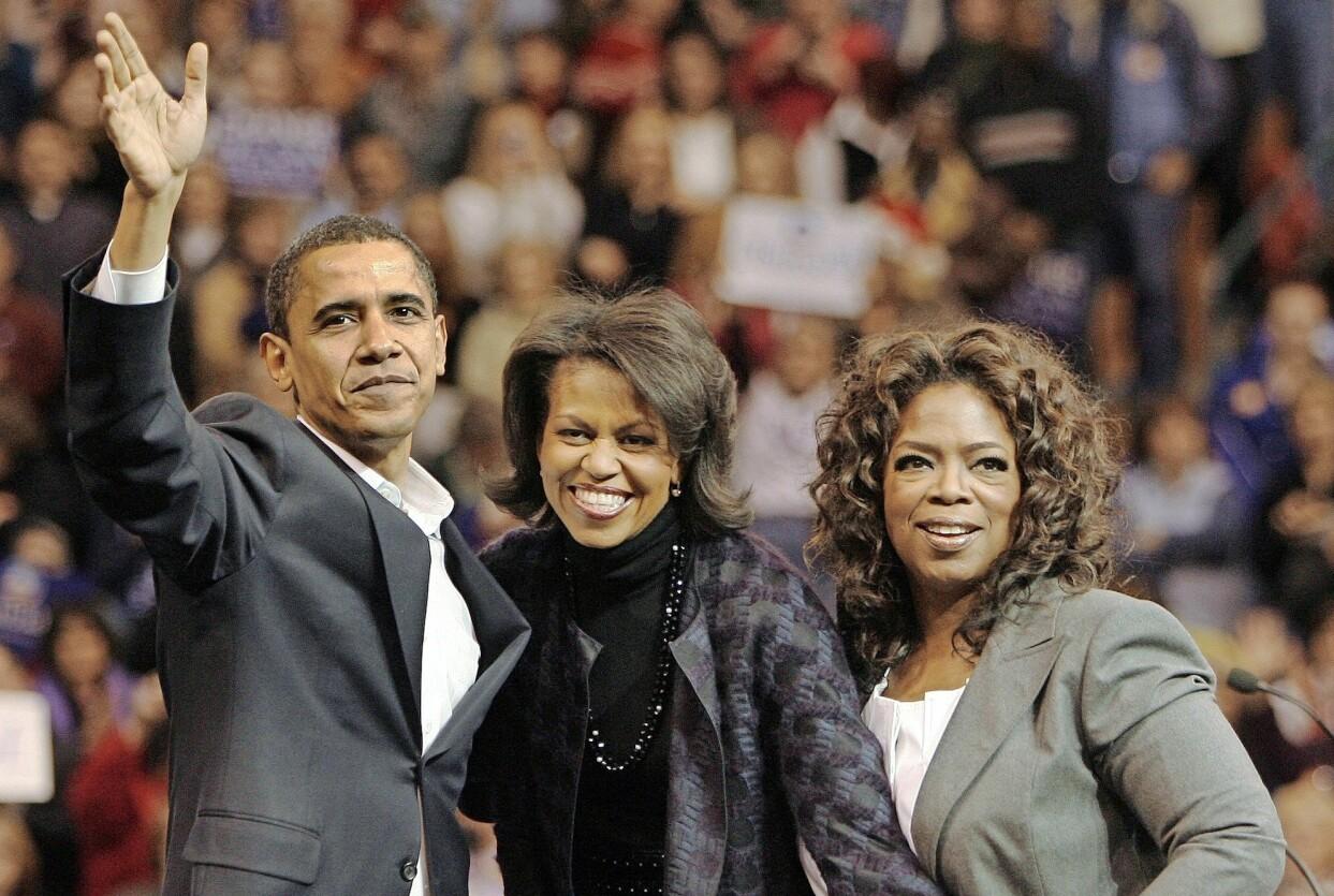 Oprah Winfrey med Barack och Michelle Obama.